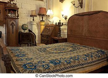 vintage bedroom interior