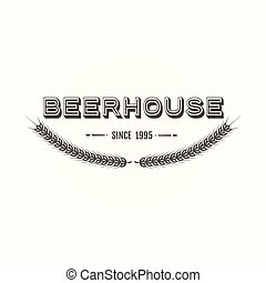 Vintage beer emblem - Vintage styled craft beer brewery...
