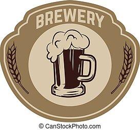 Vintage beer label. Design elements for logo, label, emblem, sign, menu.