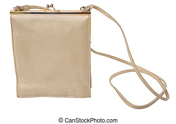 vintage beige woman bag