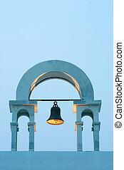vintage belfry in greek style