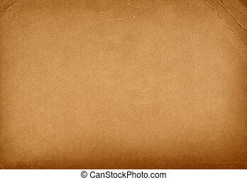 vintage bended paper - brown old textured paper