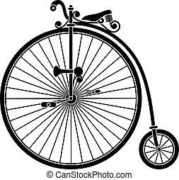 Vintage Bicycle - Vintage penny farthing big wheel bicycle.