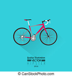 Vintage Bicycle Flat Vector