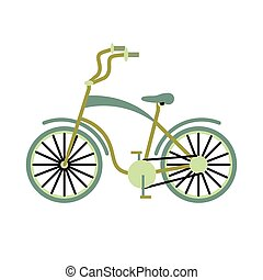 vintage bicycle for tourism symbol