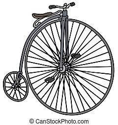 Vintage bicycle - Hand drawing of a vintage bog bicycle