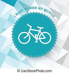 Vintage bicycle illustration. Vector.