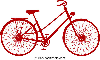 Vintage bicycle in red design