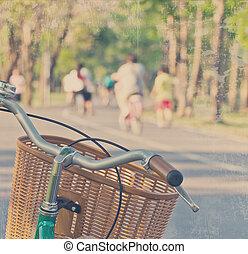 Vintage bicycle in the park