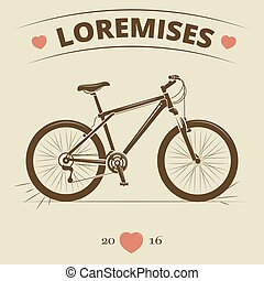 Vintage bicycle logo or print design