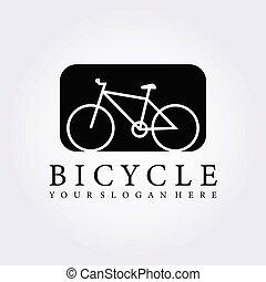 Vintage bicycle logo vector illustration design