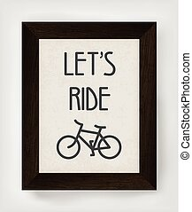Vintage bicycle poster illustration.