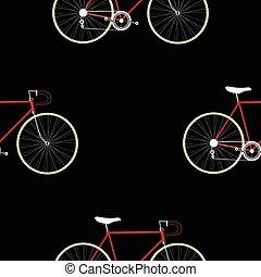 Vintage Bicycle Seamless Pattern