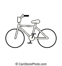 vintage bicycle symbol black and white
