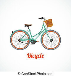 Vintage bicycle symbol vector illustration isolated
