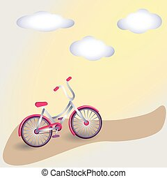 Vector card with bicycle.
