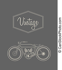 Vintage bike - Vector illustration of a stylised vintage...