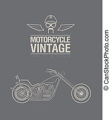 Vintage bike - Vector illustration of a stylised vintage...