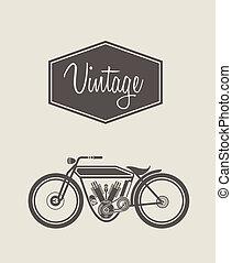 Vintage bike - Vector illustration of a stylized vintage...