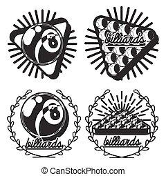 Vintage billiard emblems
