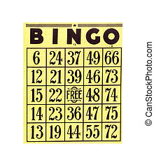 Bingo Card - Vintage Bingo Card