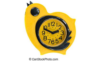 vintage birds forms clock