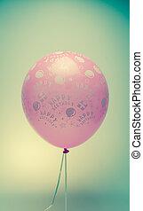 vintage birthday balloon