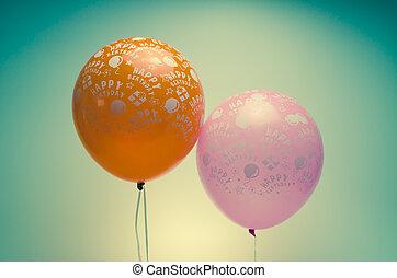 vintage birthday balloons