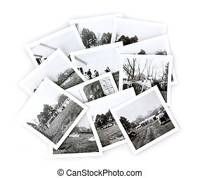 Vintage Black and White Photos Collage