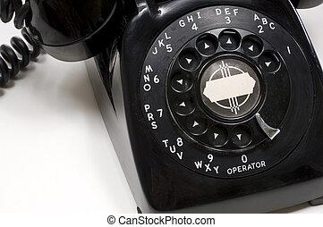 Vintage Black Desk Phone