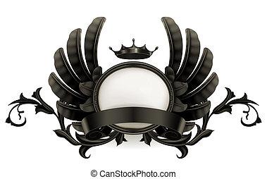 Vintage black emblem, 10eps