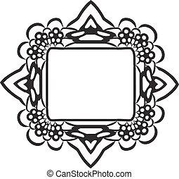 black lace frame