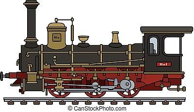 Vintage black steam locomotive