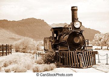 vintage black steam powered railway