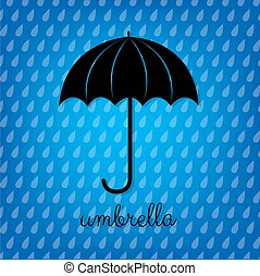 Vintage Black Umbrella