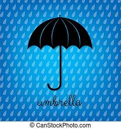 Vintage Black Umbrella