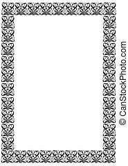 Vintage black-white framework