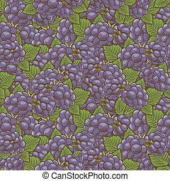 Vintage Blackberry Seamless Pattern