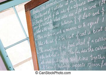 Vintage Blackboard in a School