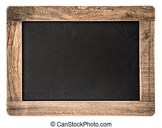 vintage blackboard with wooden frame