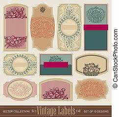 vintage blank labels set (vector)