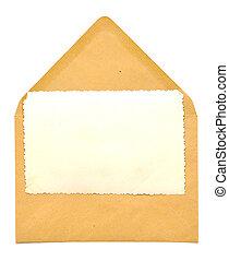 vintage blank photo frame on envelope - vintage blank photo...