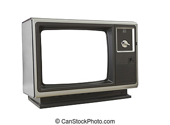 Vintage Blank Television Isolated
