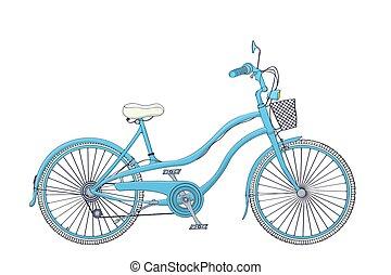 Vintage blue bicycle