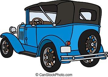 Vintage blue convertible