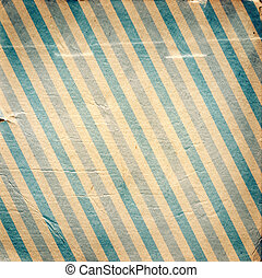Vintage blue diagonal striped paper background