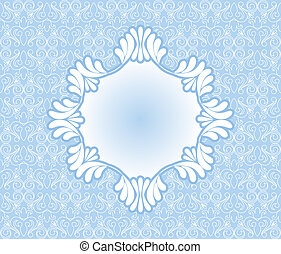 Vintage blue frame on background