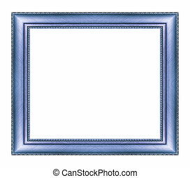 Vintage blue frame with blank space and clipping path