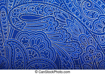 Vintage blue paisley wallpaper