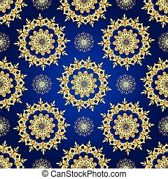 Vintage blue seamless pattern